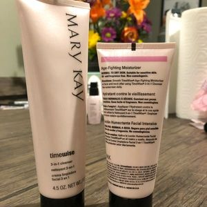 Mary Kay face wash and moisturizer, NML TO DRY